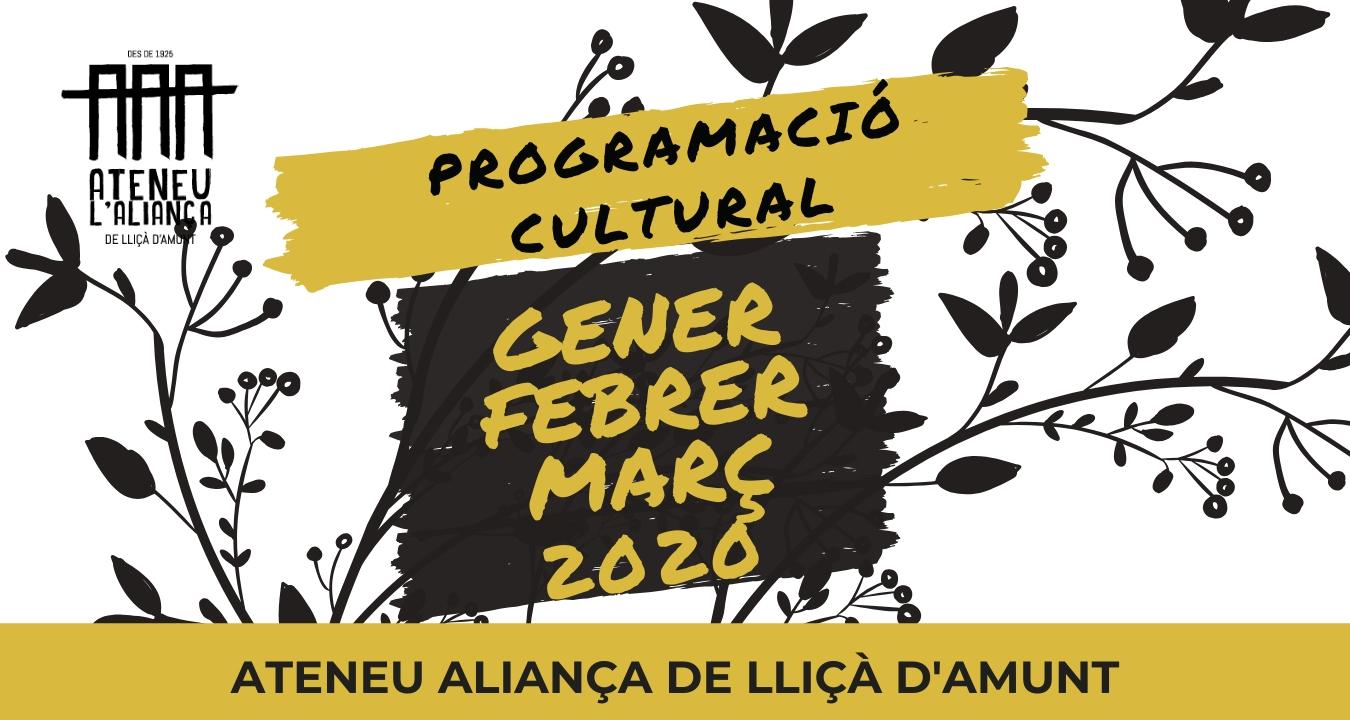 Programació Gener -Març 2020!!