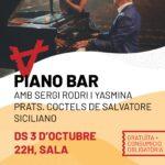 Piano Bar amb en Sergi Rodri i la Yasmina Prats, amb els còctels d'en Salvatore Siciliano.