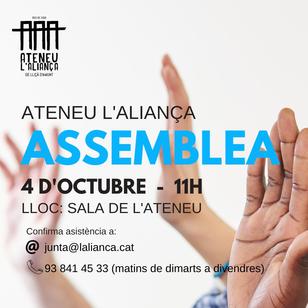 Assemblea socis/es 4 d'octubre