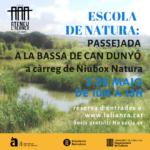 Escola de Natura: itinerari de natura a la bassa de Can Dunyó